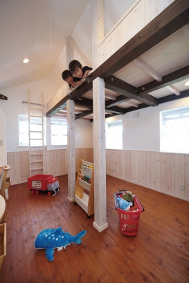 私のしろい家/西建│スイス漆喰カルクウォールが創り出す上質な空間と美しい景観│子供部屋