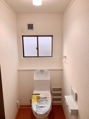 レトロモダン×アカデミックな家|トイレ